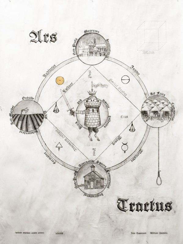 """Ars Tractus, 34""""x45"""" graphite on paper. 2012 with Jade Townsend"""