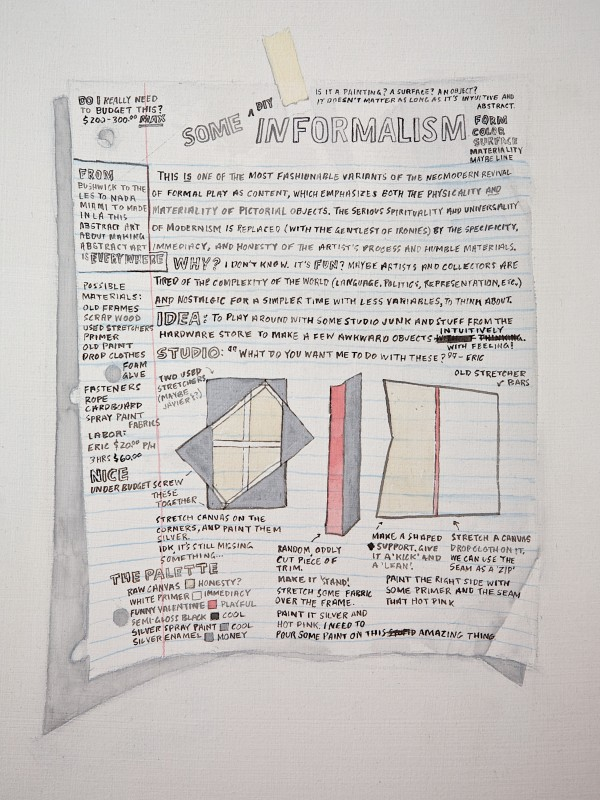 Panel: Graphite and watercolor, 19 x 15 inches. 2013