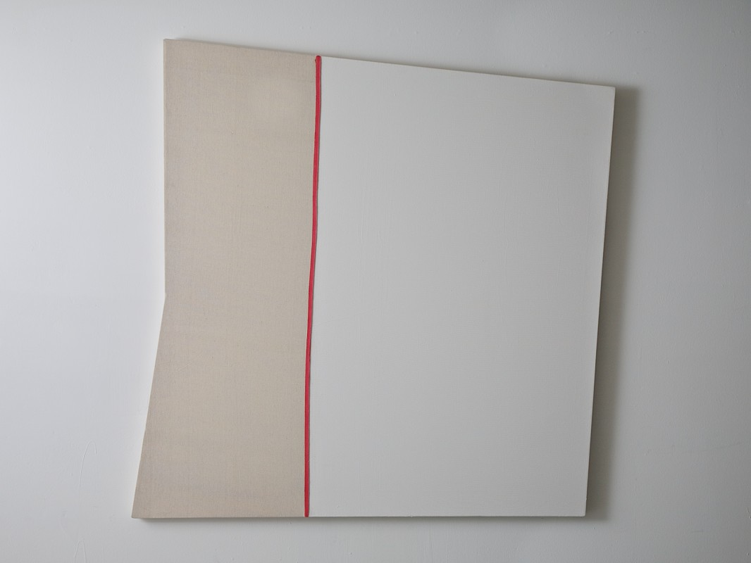 Shaped canvas painting: Acrylic on canvas, 51 ½ x 51 inches, 2013