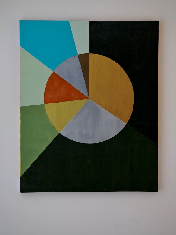 Painting: Acrylic and enamel on panel, 58 x 44 inches, 2013